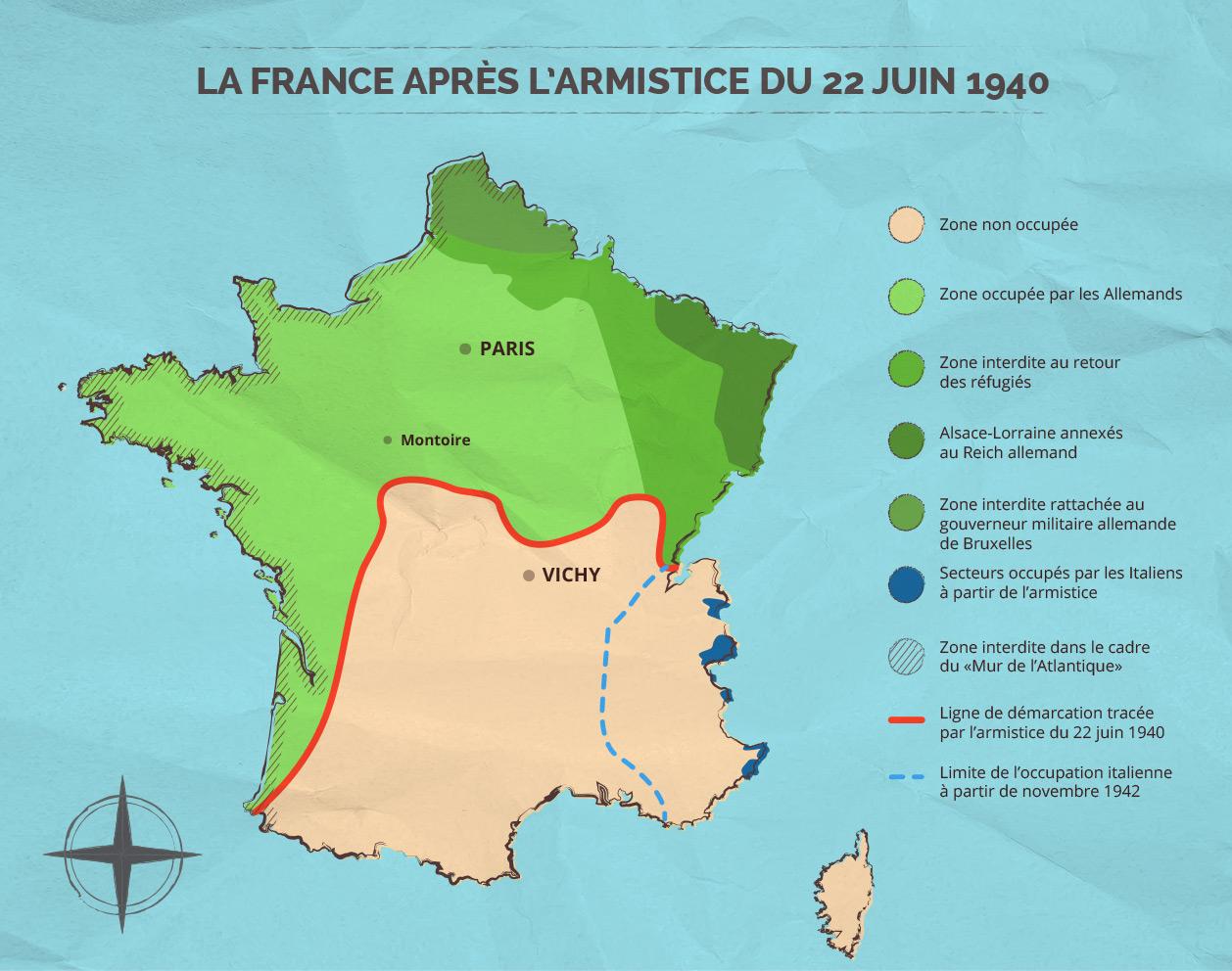 Carte Allemagne Apres Guerre.La France Occupee Rachel Et Hannah